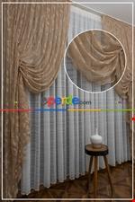 Tül Fon Gri Renk Fon Büzgülütasarım Yeni Moda Perde- Gri-füme-antrasit Kahverengi