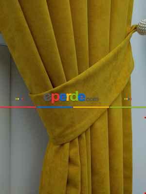 Hardal Sarısı - Düz Fon Perde- Hardal Sarısı