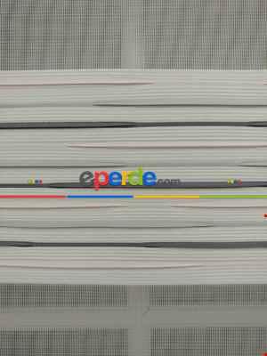 Zebra Perde -gri Geçişli Kırık Pileli Renk (kalın Doku Zeminli)