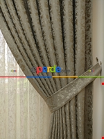 Toprak Rengi Duz Jakar Fon Perde (180)- Kahverengi Kahverengi