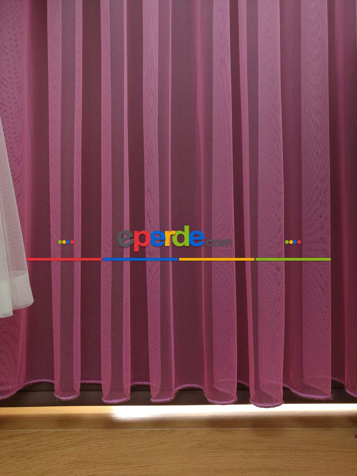 Degrade Renk Geçişli Fransız Danteli Düz Tül Perde ( Fon Satın Alarak Kombin Yapılabilir )