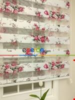 Zebra Perde - Çiçek Baskılı Çocuk Ve Genç Odası Mor