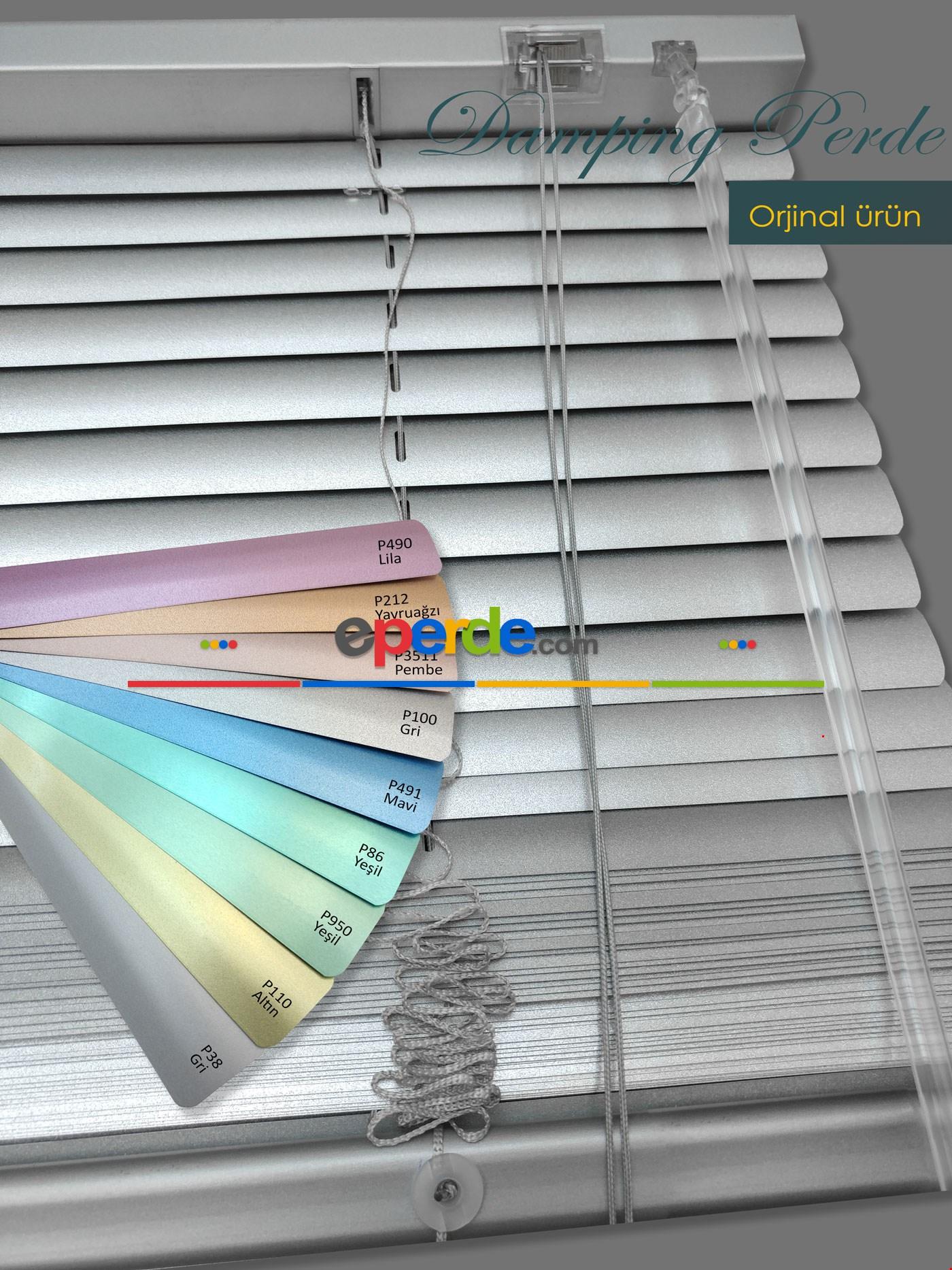 Jaluzi Perde Metalik Gri - 25mm Kalınlığında 1. Kalite 9 Renk - Alüminyum