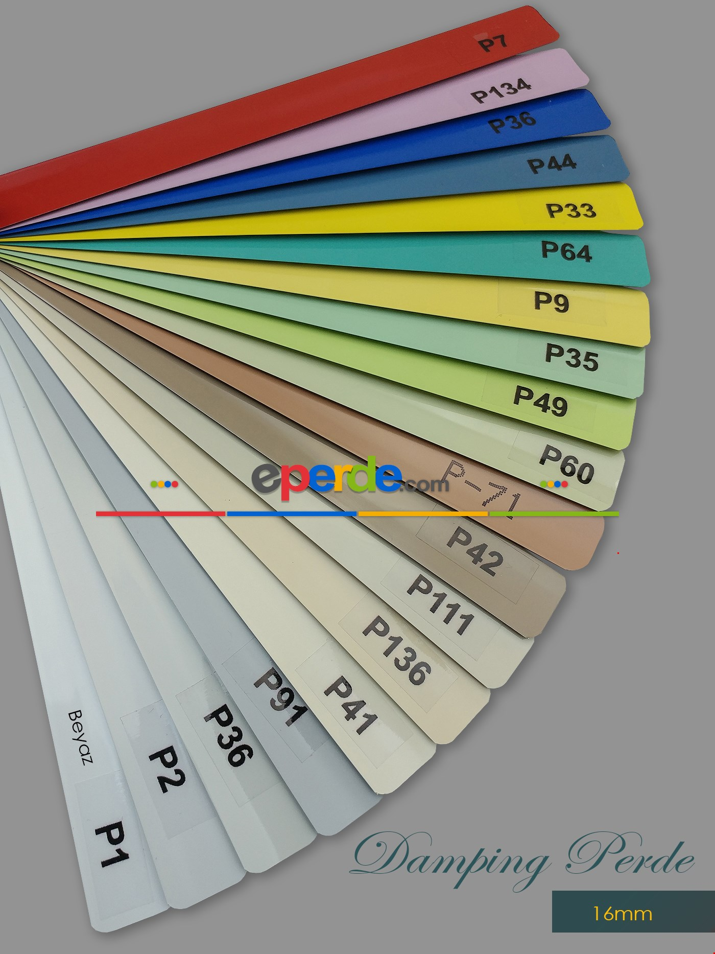 1. Kalite 19 Renk - Alüminyum Jaluzi Perde - 16mm Kalınlığında
