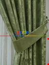 Fıstık Yeşili - Katyonik Jakar Fon Perde 180cm En
