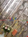 Damask Desenli Floş Örme Tül Perde