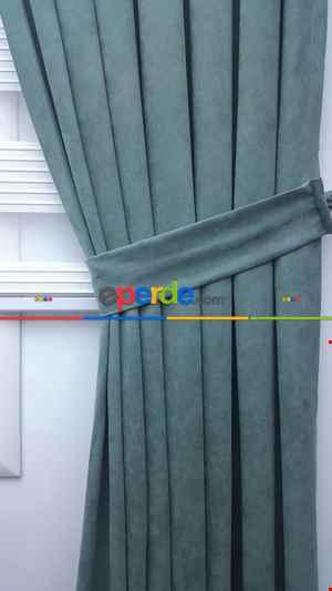 Turkuaz Yeşili Ara Renk - Düz Fon Perde (280 Eninde)- Turkuaz Yeşili Ara Renk
