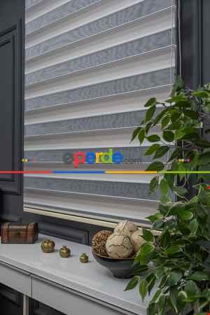 Mutfak- Zebra Perde - Micro Pilise - Degrade Renk Geçişli Zebra Perde