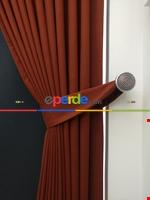 Gri Düz Renk Dökümlü Fon Perde (150)- Gri Taba