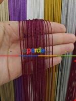 Bordo Rengi İp Perde İnce Zincir Serisi Bordo