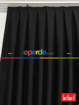 Brillant Karartma Blackout Siyah Renk Fon Perde- Siyah