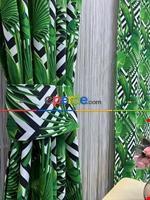 Modern Desenli Fon Perde 3 - ( Kalın Pamuklu Kumaş)- Siyah-mavi-füme-ekru-hardal Sarısı-turkuaz Yeşili Ara Renk Siyah - Yeşil - Ekru