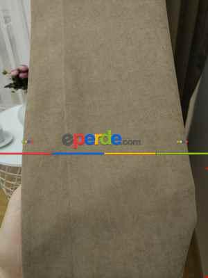 Açık Vizon Düz Fon Perde 180cm En- Açık Vizon