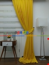 Sarı - Düz Fon Perde (150cm En Dökümlü Fon)