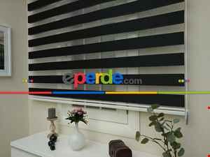 Zebra Perde - Düz Zebra Zebra ( Eco Serisi )- Siyah