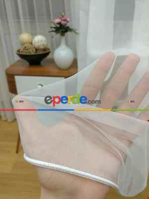 Dönergücü - Pırıltı Mat Zemin Tül Perde Ekru Renk Kırık Beyaz 1.kalite- Ekru
