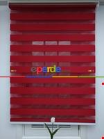 Zebra Perde - Düz Zebra Perde- Krem Kırmızı