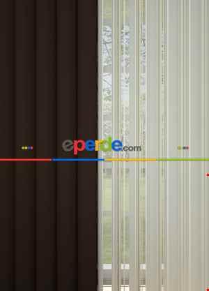 Brillant Marka - Akıllı Tül Perde Kahverengi Tül Dikey Zebra Perde Düz 1. Kalite