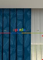 Blackout Kumaştan Açık Gri Yaprak Desenli Baskılı Fon Perde Geniş En 1. Kalite Mavi