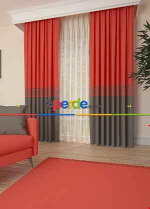 Narçiçeği Bordürlü Pano Fon Perde 1. Kalite Çok Dökümlü - Salon - Yatak Odası - Oturma Odası