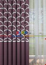 Blackout Kumaştan Petrol Mavi Geniş En Modern Pano Desenli Fon Perde 1. Kalite Lila