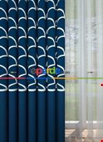 Blackout Kumaştan Petrol Mavi Geniş En Modern Pano Desenli Fon Perde 1. Kalite Mavi