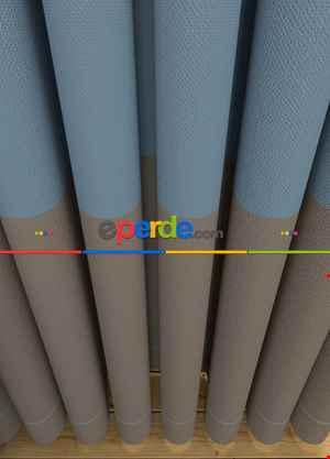 Açık Mavi Açık Vizon Düz Geniş En Pano Çift Renkli Fon Perde 1. Kalite Çok Dökümlü