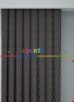 Blackout Kumaştan Gri Siyah Modern Desenli Baskılı Fon Perde Geniş En 1. Kalite Yeşil - Pembe