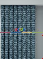 Koyu Vizon Modern Desenli Baskılı Fon Perde Geniş En 1. Kalite Çok Dökümlü Mavi
