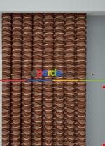 Koyu Vizon Modern Desenli Baskılı Fon Perde Geniş En 1. Kalite Çok Dökümlü Kiremit Rengi