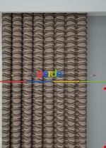 Koyu Vizon Modern Desenli Baskılı Fon Perde Geniş En 1. Kalite Çok Dökümlü Kahverengi