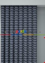 Koyu Vizon Modern Desenli Baskılı Fon Perde Geniş En 1. Kalite Çok Dökümlü Mavi - Gri Füme Antrasit