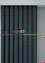 Koyu Vizon Modern Desenli Baskılı Fon Perde Geniş En 1. Kalite Çok Dökümlü Mavi - Gri Füme Antrasit - Kahverengi