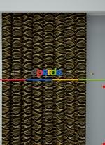 Koyu Vizon Modern Desenli Baskılı Fon Perde Geniş En 1. Kalite Çok Dökümlü Siyah - Sarı