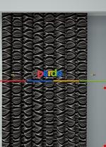 Koyu Vizon Modern Desenli Baskılı Fon Perde Geniş En 1. Kalite Çok Dökümlü Siyah - Pembe
