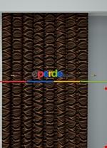 Koyu Vizon Modern Desenli Baskılı Fon Perde Geniş En 1. Kalite Çok Dökümlü Siyah - Kiremit Rengi
