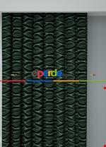 Koyu Vizon Modern Desenli Baskılı Fon Perde Geniş En 1. Kalite Çok Dökümlü Siyah - Yeşil