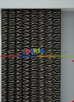 Koyu Vizon Modern Desenli Baskılı Fon Perde Geniş En 1. Kalite Çok Dökümlü Siyah - Krem